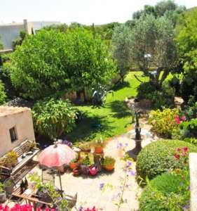 Blick in den Garten und Nachbarschaft