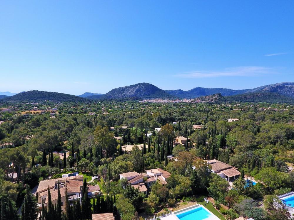 Panoramablick von der Villa bei Pollensa