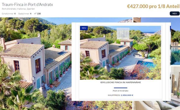 Eine Luxusimmobilie in Port Andratx: Im Teil-Verkauf rund eine halbe Million Euro teurer als beim 100%-Kauf